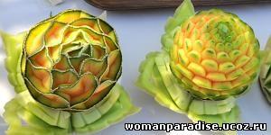 Карвинг – искусство резьбы по овощам и фруктам
