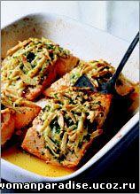 лосось в сырной корочке